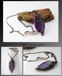 Gail- wire wrapped pendant