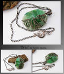 Brae- wire wrapped pendant