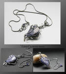 Eileen- wire wrapped pendant