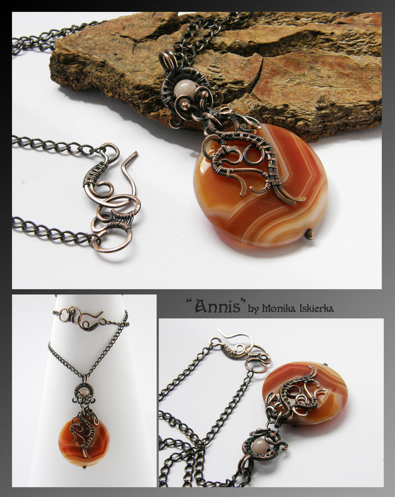Annis- wire wrapped pendant by mea00