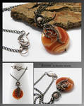 Annis- wire wrapped pendant
