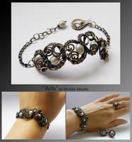 Ailla- wire wrapped bracelet by mea00