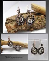 Ailla- wire wrapped earrings by mea00