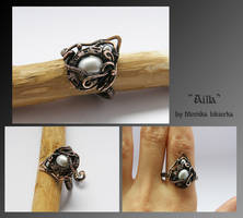 Ailla- wire wrapped ring by mea00