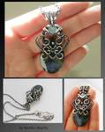 Kindella- wire wrapped pendant
