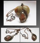 Edana- wire wrapped necklace