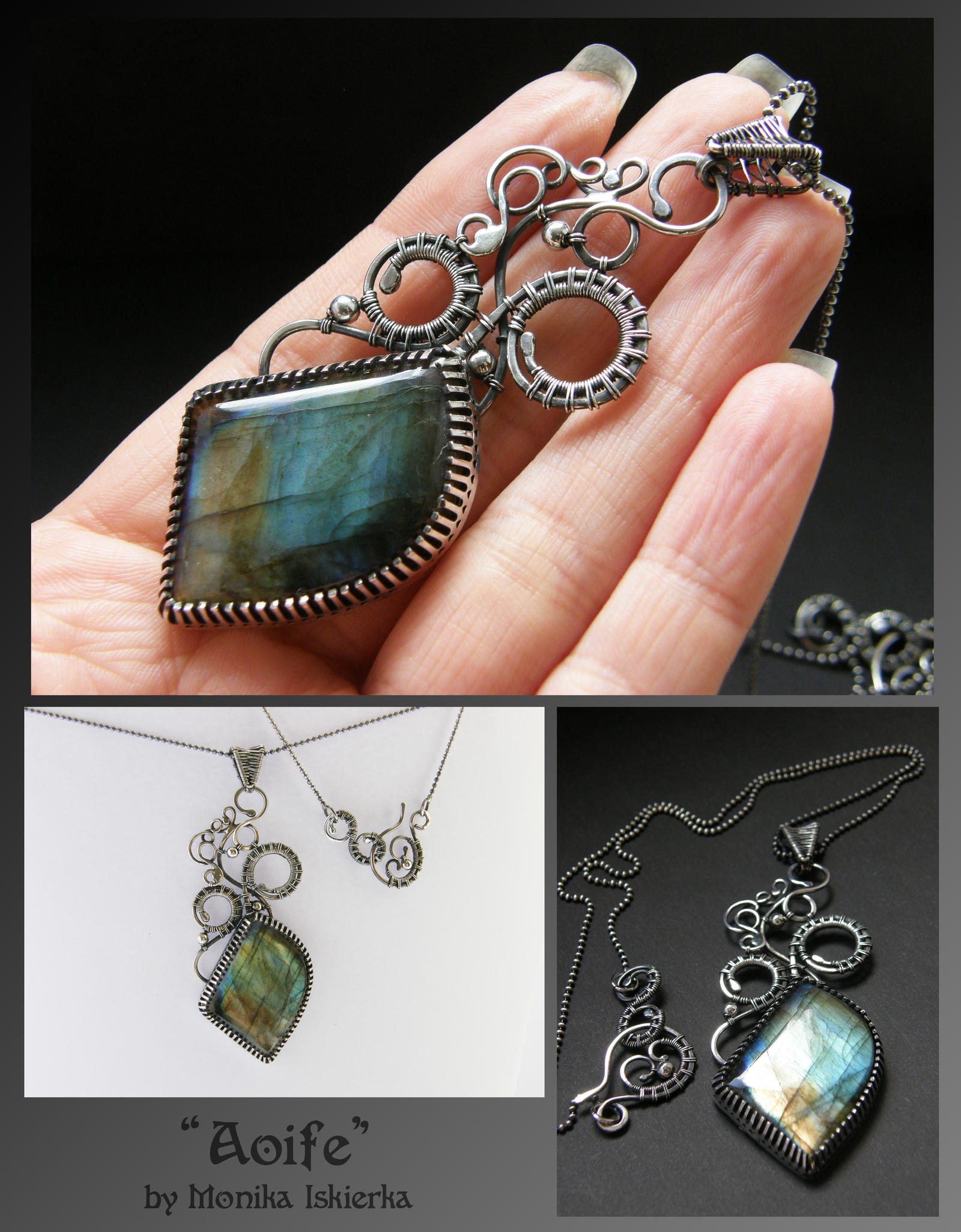 Aoife- wire wrapped necklace by mea00