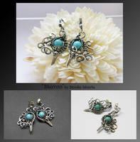 Murron- wire wrapped earrings by mea00