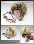 Telyn- wire wrapped necklace