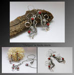 Hafgan- wire wrapped earrings
