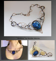 Galatea- wire wrapped necklace by mea00