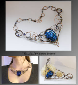 Galatea- wire wrapped necklace