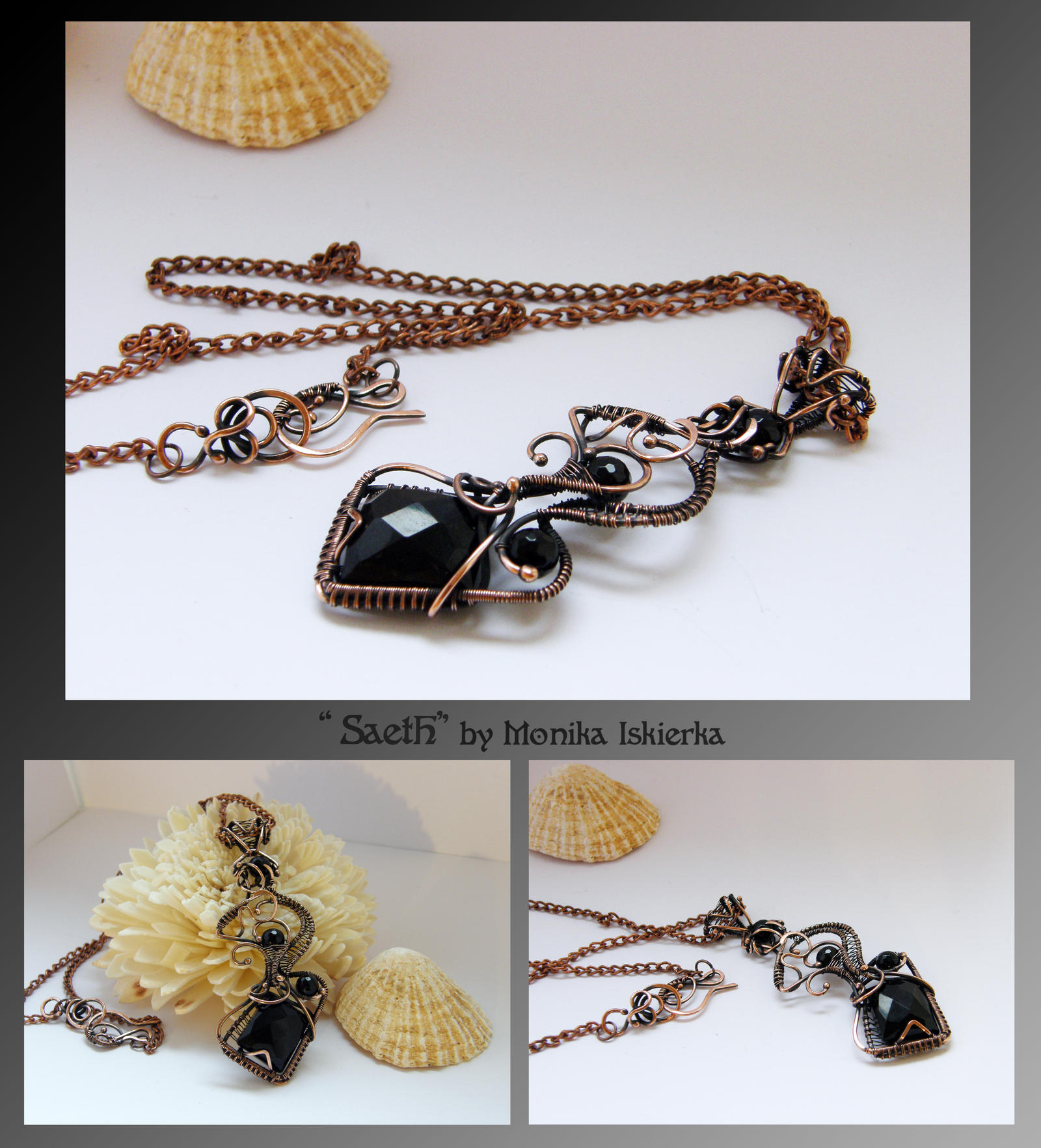 Saeth- wire wrapped necklace