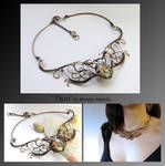 Flam- wire wrapped necklace