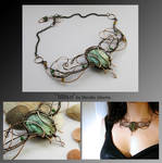 Mitan- wire wrapped necklace