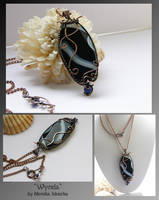 Wynda- wire wrapped necklace by mea00
