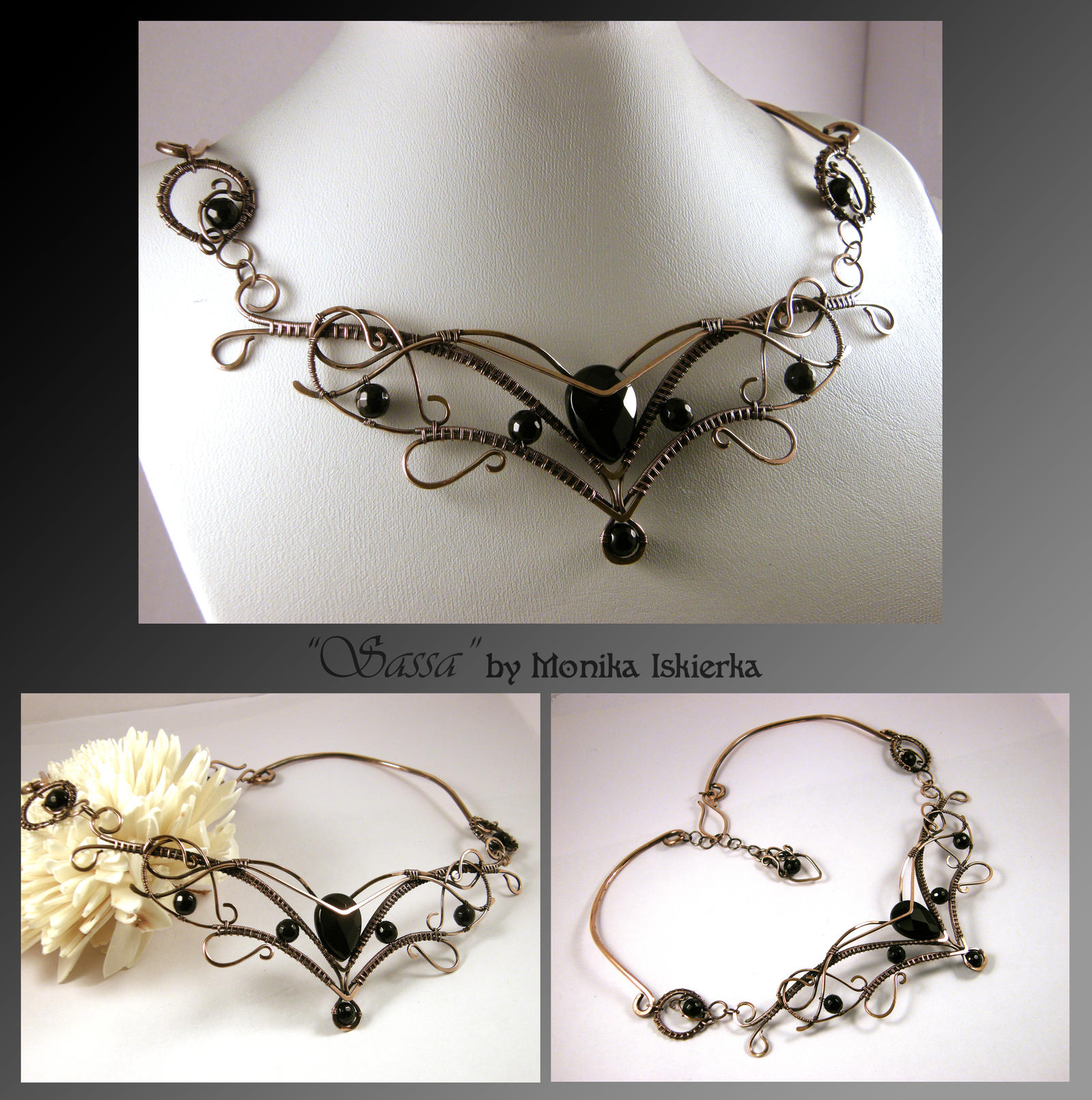 Sassa- wire wrapped necklace by mea00