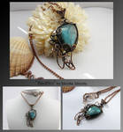 Blaithin- wire wrapped copper necklace