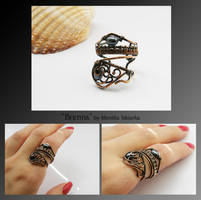 Brenna- wire wrapped ring by mea00