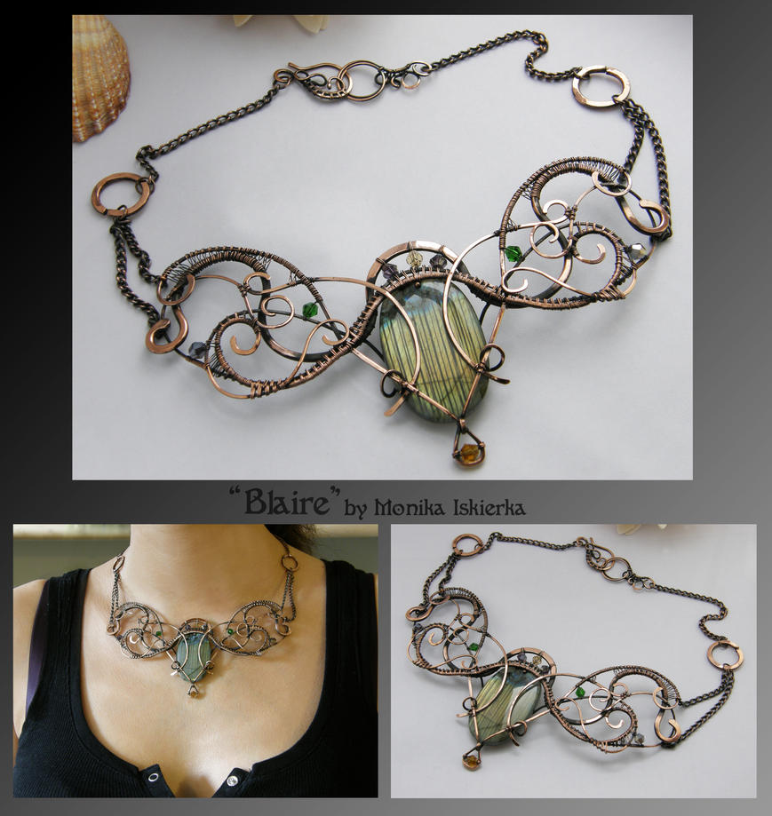 Blaire- wire wrapped copper necklace by mea00