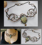Blaire- wire wrapped copper necklace