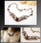 Rhiamon- wire wrapped copper necklace