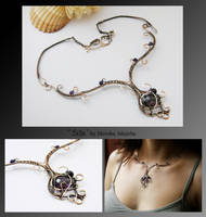 Silja- wire wrapped copper necklace by mea00