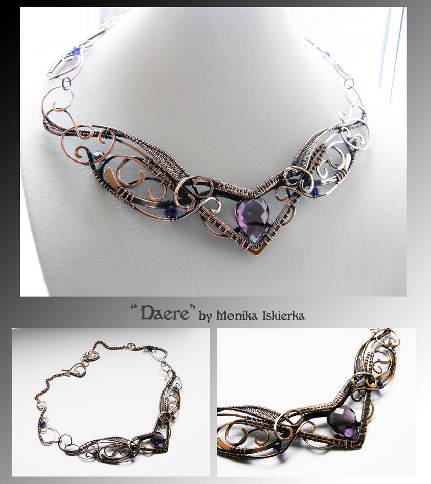 Daere- wire wrapped copper necklace by mea00 on DeviantArt
