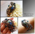 Rhiamon bracelet- wire wrapped copper