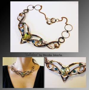 Cullodena- wire wrapped copper necklace