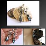 Shannon- wire wrapped silver earrings