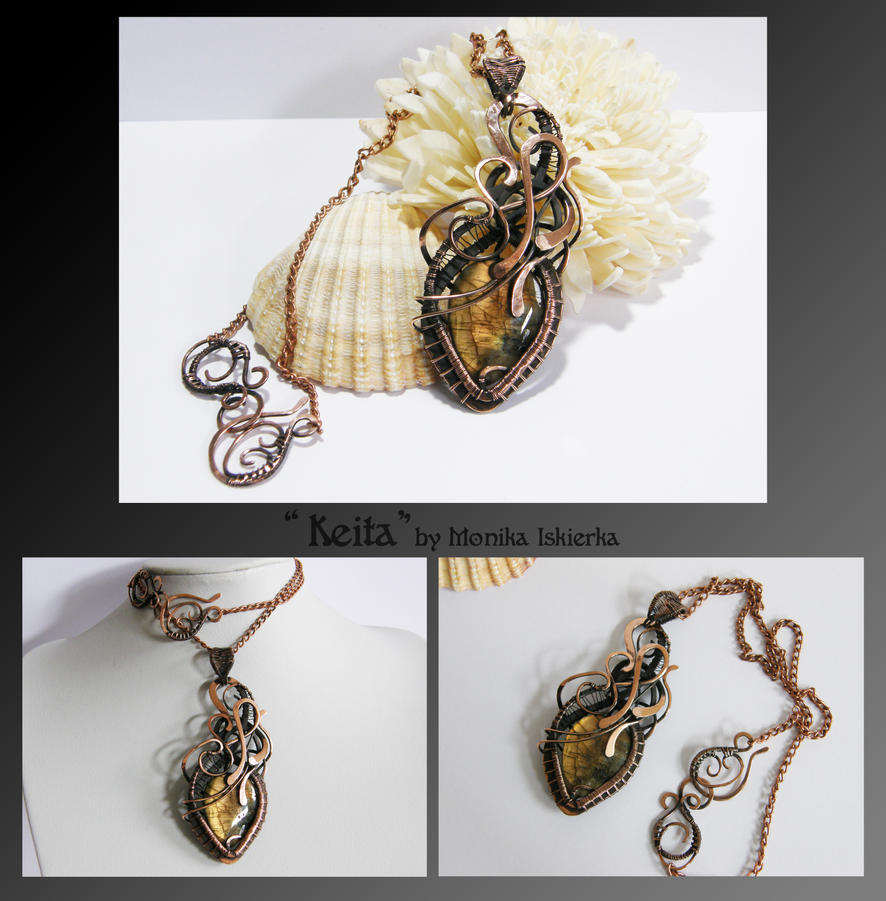 Keita- wire wraped copper necklace by mea00