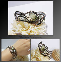 Nathaira- wire wrapped copper bracelet by mea00