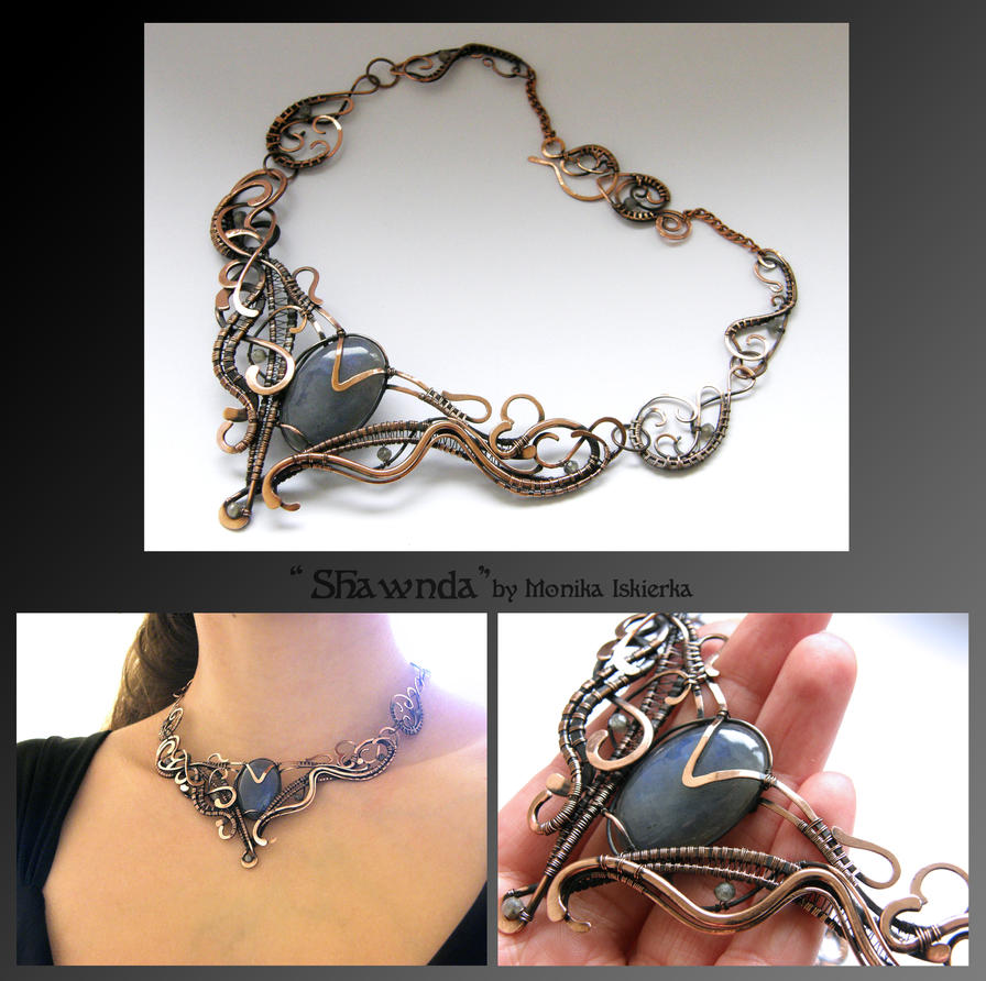 Shawnda- wire wrapped copper necklace by mea00