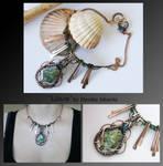 Liliane- wire wrapped copper necklace