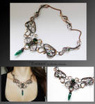 Eveleen- wire wrapped copper necklace