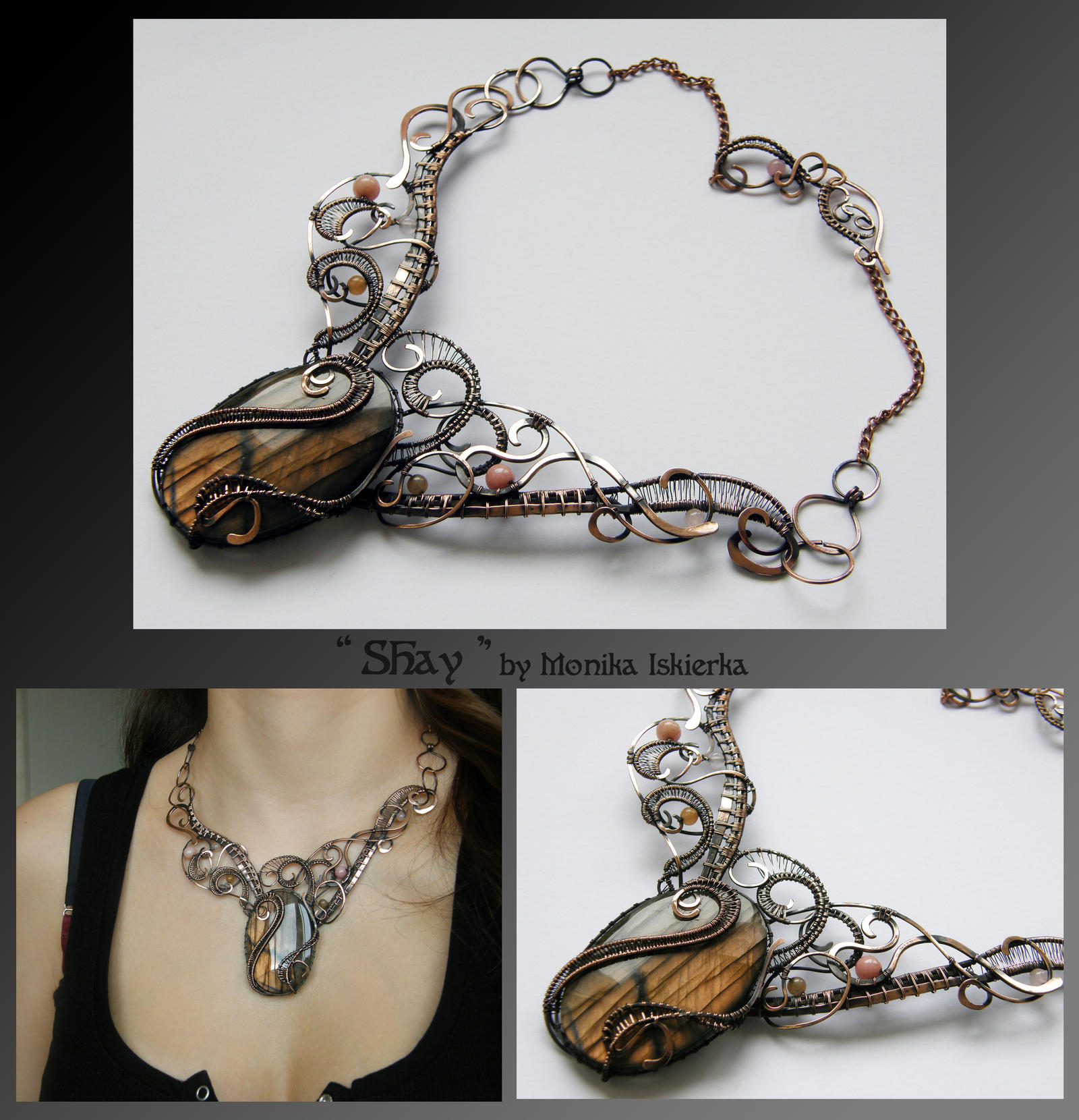 shay wire wrapped copper necklace by mea00 on deviantart