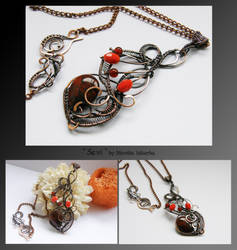 Sevi- wire wrapped copper necklace by mea00