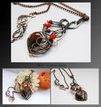 Sevi- wire wrapped copper necklace