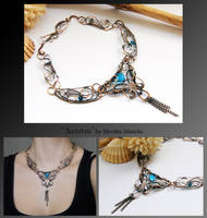 Sunnva- wire wrapped copper necklace by mea00