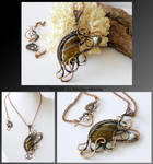 Modith- wire wrapped copper necklace