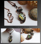 Aiyana- wire wrapped copper necklace