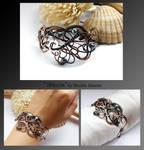 Sheena- wire wrapped copper bracelet