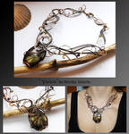 Yesica- wire wrapped copper necklace
