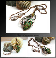Joline- wire wrapped copper necklace