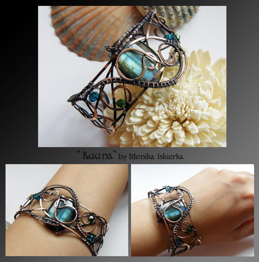 Kuuna- wire wrapped copper necklace by mea00