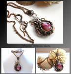 Argelia- wire wrapped copper necklace by mea00