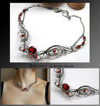 Rhiamon III- wire wrapped silver necklace