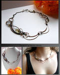 Tanaro- wire wrapped copper necklace by mea00
