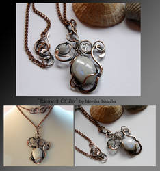 Element Of Air- wire wrapped copper necklace